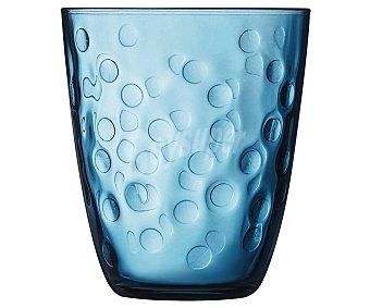 Luminarc Vaso de vidrio con diseño en relieve color azul, , Pepite luminarc 0,31 litros