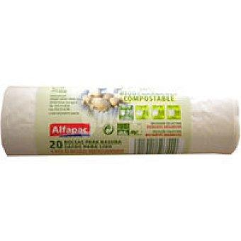 ALFAPAC Bolsa de basaura biodegradable compos. Paquete 20 unid