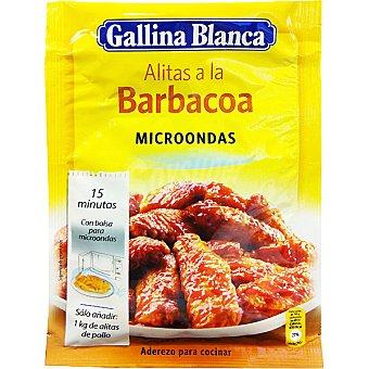 Gallina Blanca Sazonador de alitas a la barbacoa para microondas sobre 34 g Sobre 34 g