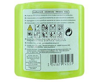 AUCHAN Vela cilíndrica perfumada de 80x80 milímetros y con olor a higo dulce 1 Unidad