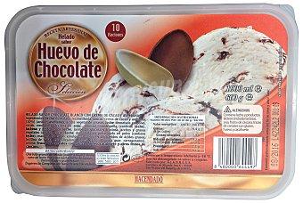 HACENDADO Helado tarrina huevo de chocolate  Tarrina 1L