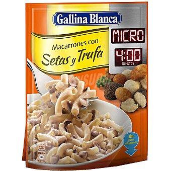 Gallina Blanca Macarrones con setas y trufas micro 4 minutos Sobre 78 g