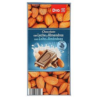 DIA Delicious Chocolate con leche y almendras enteras Tableta de 200 g