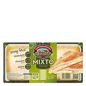 Casa Tarradellas Sandwiches mixtos de jamón y queso Pack 2 unidades 135 gramos