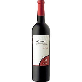 LA CONSULTA Vino tinto malbec Argentina botella 75 cl