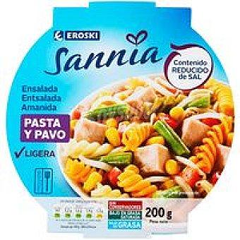 Eroski Sannia Ensalada de pasta-pavo 200 g