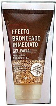 Solcare Gel facial efecto bronceado inmediato (proporciona tono e hidrata) TUBO 50 cc