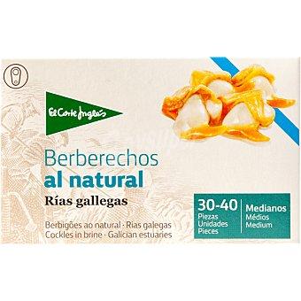 El Corte Inglés Berberechos al natural de las rías gallegas 30-40 piezas  lata 63 g neto escurrido