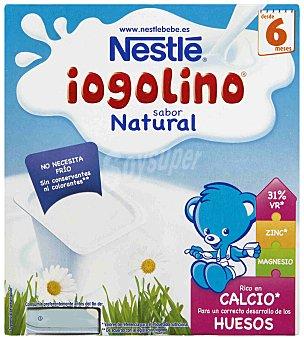 NESTLE IOGOLINO Postre lacteo sabor natural x100 estuche 400 g pack 4