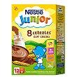 8 Cereales con cacao papilla instantanea con bifidus desde 12 meses envase 600 g Junior Nestlé