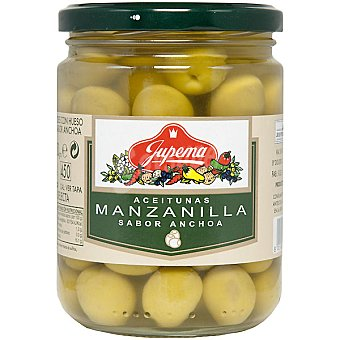 Jupema Aceitunas manzanilla sabor anchoa Frasco 250 g neto escurrido