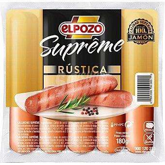 ElPozo Supreme salchichas rústicas sin gluten envase 180 g envase 180 g