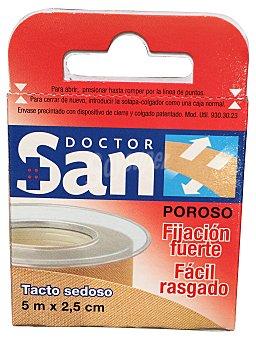 Doctor san Esparadrapo tejido color piel (5m x 2,5 cm) 1 unidad