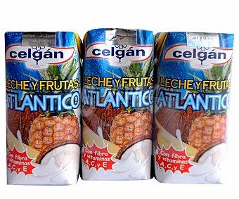 Celgán Leche y zumo de frutas del Atlántico (piña y coco) 3 x 330 ml