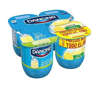 DANONE Yogur sabor limón  4 unidades 120 g