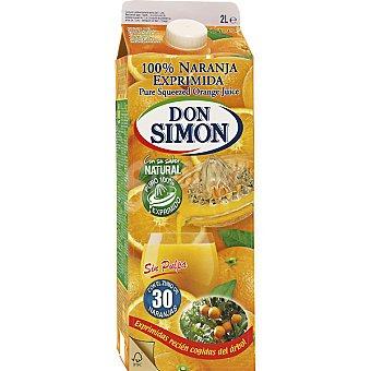 Don Simón Zumo de naranja exprimida sin pulpa 2 l