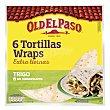 Tortillas de trigo wraps Paquete 350 g (6 u) Old El Paso