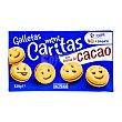 Galletas mini caritas con crema de cacao  Paquete de 329 g Hacendado