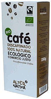 Alternativa 3 Cafe molido natural descafeinado ecologico Estuche 250 g