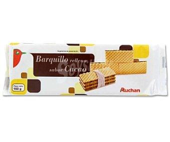 Auchan Barquillos rellenos sabor chocolate 160 Gramos