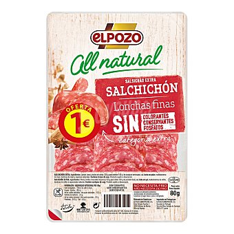 ElPozo Salchichón All Natural 80G