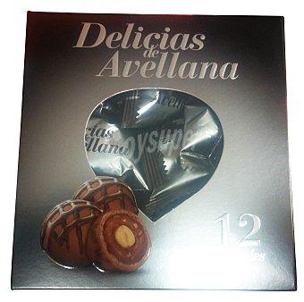 Hacendado Bombon delicias de avellana (relleno de avellana y chocolate) Caja 12 unidades