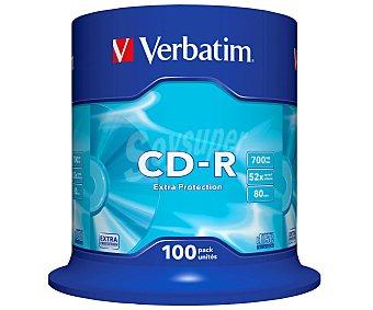 VERBATIM 100 CD-R Pack 100 cd-r Datalife 700MB 52X verbatim Pack 100