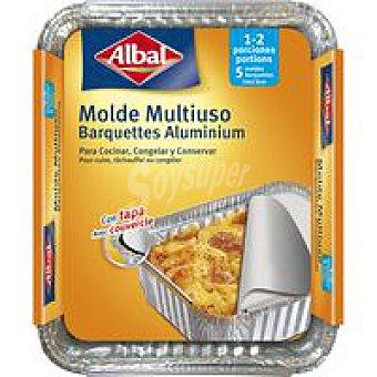 Albal Molde de aluminio multiuso Pack 5 unid