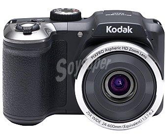 """Kodak Cámara Bridge 16 Megapixeles, AZ251 resolución HD, 25x de Zoom óptico, pantalla de 3"""", color negro 1 Unidad"""