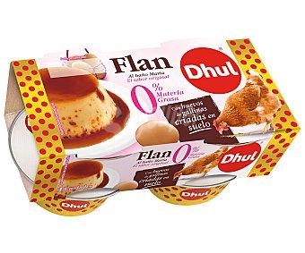 Dhul Flan de huevo al baño maría y con 0% materia grasa 4 x 100 gr