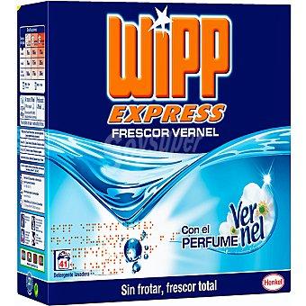 WIPP EXPRESS detergente máquina polvo frescor Vernel  maleta 41 cacitos