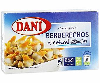 Dani Berberechos 30/40 Piezas 62 gramos peso escurrido