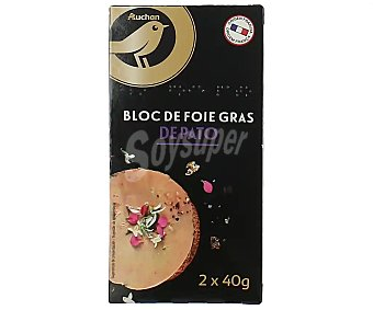 ALCAMPO GOURMET Medallones de foie gras de pato de origen frances 2 x 40 g