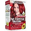 Ultra Color tinte Rojo Vibrante nº 6.60 coloración nutritiva permanente Caja 1 unidad Nutrisse Garnier