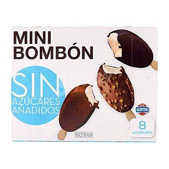 Hacendado Helado sin azucar añadido palo bombon mini *verano* Pack 8 x 57 ml