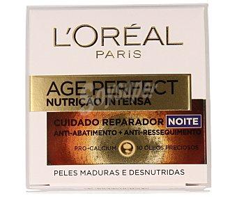 L'Oréal Crema nutritiva de noche cuidado reparador para pieles maduras 50 mililitros