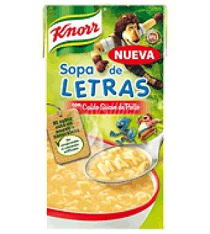 Knorr Sopa de letras con caldo suave de pollo 500 ml