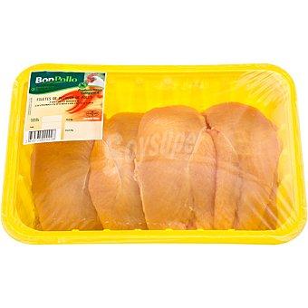 BONPOLLO Filetes pechuga de pollo formato ahorro peso aproximado Bandeja de 1,2 kg