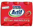 Yogur líquido fresa Pack 6x70 g Kaiku Actif