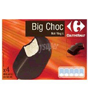 Carrefour Helado big choc negro Pack de 4ud,