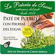 Paté de cerdo ibérico origen bellota Estuche 70 g La pateria de sousa