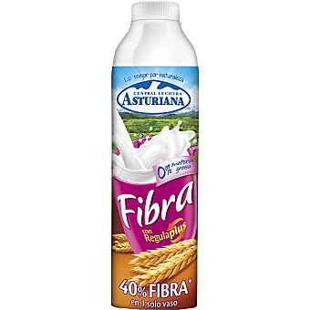 Central Lechera Asturiana Leche Semidesnatada Naturfibra 0% Botella 1 litro