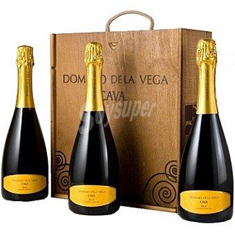 DOMINIO DE LA VEGA Cava brut reserva caja de madera 3 botella 75 cl
