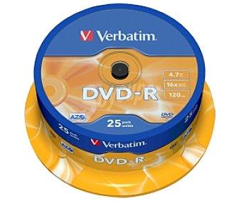 VERBATIM 25 DVD-R Pack 25 dvd-r 4,7GB 16x verbatim Pack 25