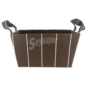 CIE Ran3825 Cesta rectangular con asas color chocolate