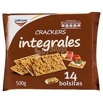 Galbusera Cracker pan integral (paquete rojo) 14 BOLSITAS (500 g)