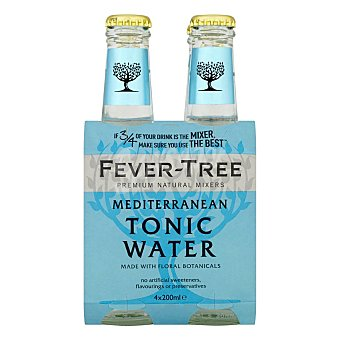 Fever Tree Tónica mediterranean 4 botellas de 20 cl