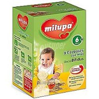 Milupa Papilla de 8 cereales con miel efecto bífidus Caja 500
