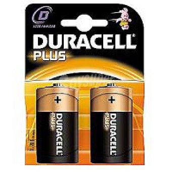 LR20 DURACELL Plus Pila alcalina Pack 2 unid