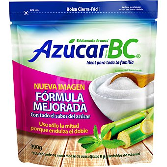 Azucar bc Edulcorante de mesa a base de azúcar de caña y extracto de Stevia Bajo en Calorías Envase 390 g